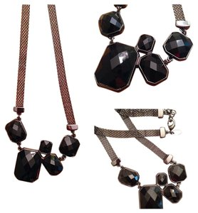Lia Sophia Black cut gem necklace - Never worn!