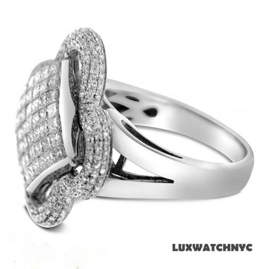 Other BRAND NEW, 14K White Gold Ladies Floral Design Cocktail Ring