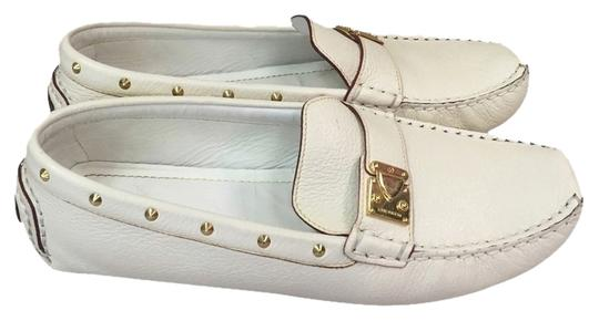 Louis Vuitton Driving Loafers 8.5 38.5 Vuitton White Flats