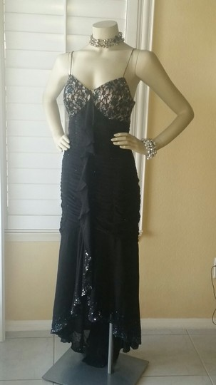 Sue Wong Black/ Nude Silk Nocturne Sexy Dress Size 6 (S)