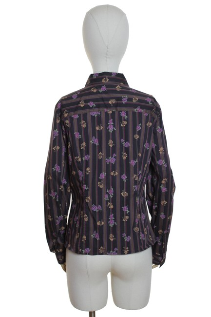 W by Worth Floral Long Sleeve Button Down Shirt Brown