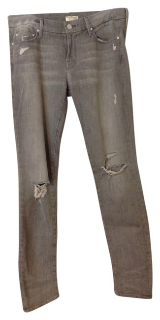 Item - Grey Distressed Relaxed Fit Jeans Size 29 (6, M)
