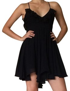 short dress Black Ruffle on Tradesy