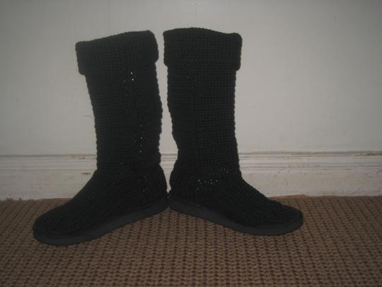 Livs Crochet Washable Trendy Classic Tall Eva Sole black Boots