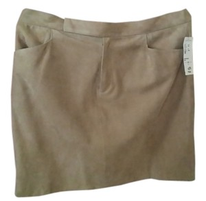 Lauren Ralph Lauren Suede Mini Skirt Tan