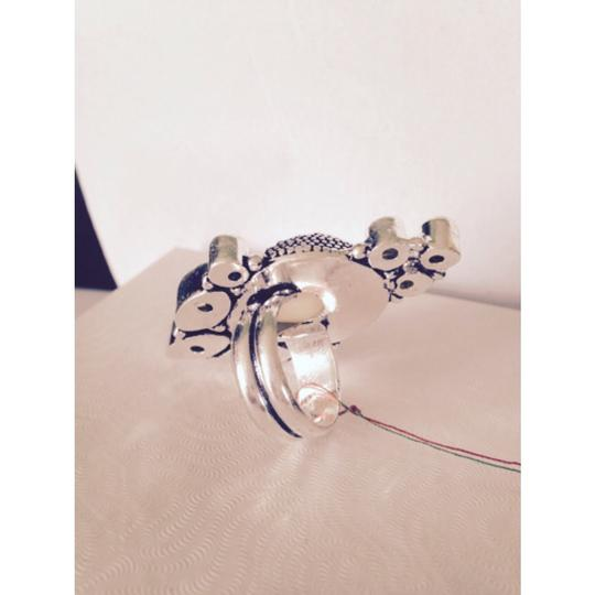 Other Embellished by Leecia Carved White Jade & Lemon Citrine In Sterling Ring