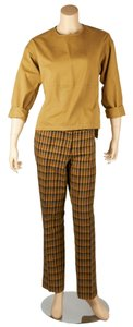 Derek Lam Derek Lam Tan Multi-Color Cotton Pant Suit, Size M (46005)