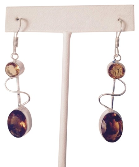 Preload https://img-static.tradesy.com/item/4233178/yellowsilver-faceted-maderia-citrine-in-sterling-earrings-0-0-540-540.jpg
