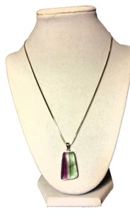 Sterling Silver .925 Fluorite Pendant Necklace