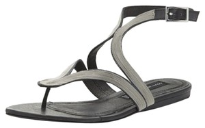 Steven by Steve Madden Black w/ silver Sandals