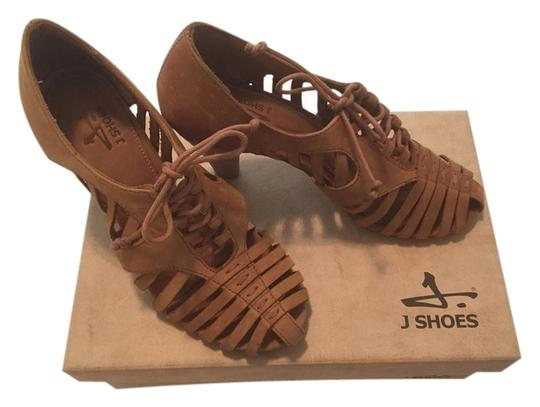 J SHOES Tan Pumps