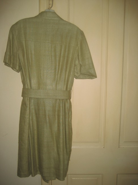 Other Silk Rayon Knee Length Buttons Pocket Dress
