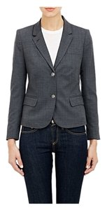 Barneys New York Grey Office Twill Casual Business Cute Long Sleeve Jacket Sweater light grey Blazer
