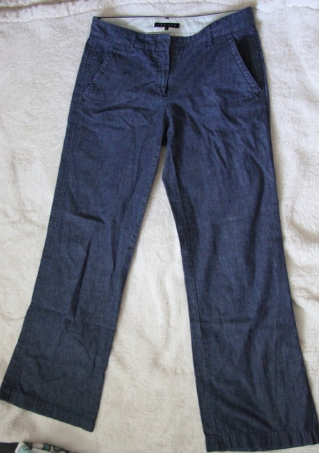 Theory Trouser/Wide Leg Jeans-Light Wash