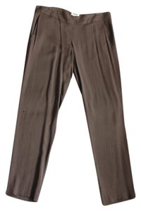 Helmut Lang Dress Taupe Designer Trouser Pants Taupe Grey