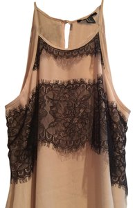Forever 21 Top Champagne/Black