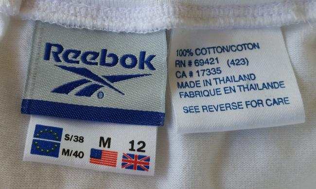 Reebok NWT REEBOK White Cotton Jersey Tennis Skirt Medium M