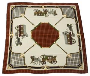 Gucci Gucci Horse and Stage Coach Equestrian Silk Scarf