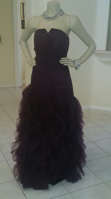 Purple/ Eggplant Polyester with Tulle Custom-made Formal Bridesmaid/Mob Dress Size Petite 4 (S) Purple/ Eggplant Polyester with Tulle Custom-made Formal Bridesmaid/Mob Dress Size Petite 4 (S) Image 1