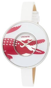 Lacoste Lacoste 2000545 Womens Club Collection Figari Leather Strap White Dial