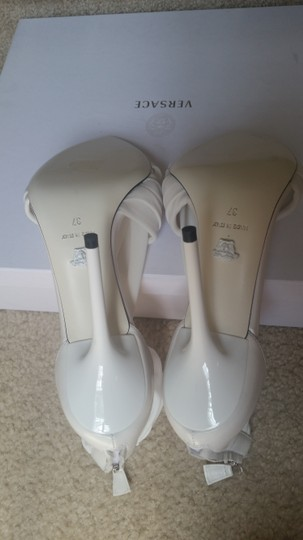 Versace Leather White Sandals