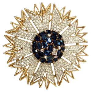 Trifari Trifari Sunflower Swarovski Brooch Pin C1960s