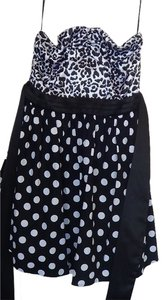 Sweet Love short dress black and white polka dots on Tradesy