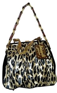 Betseyville Satchel in Black and gold