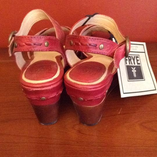 Frye Leather red Wedges