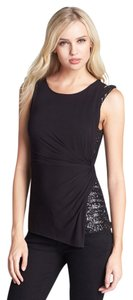 Bailey 44 Sequin Sequin Top Black