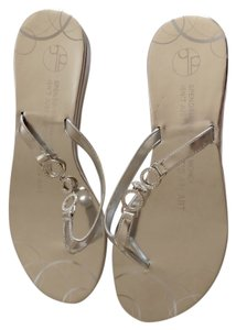 Girl Two Doors Down Silver Sandals