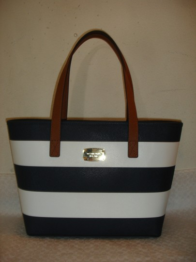 Michael Kors Tote in Navy/White