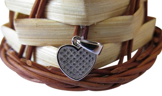 Other White Gold Rhodium Over Sterling Silver CZ Heart Pendant