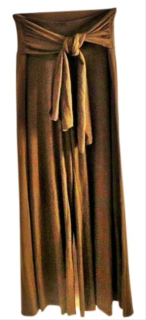 Arden B. Belted Stretchy Wide Leg Pants green