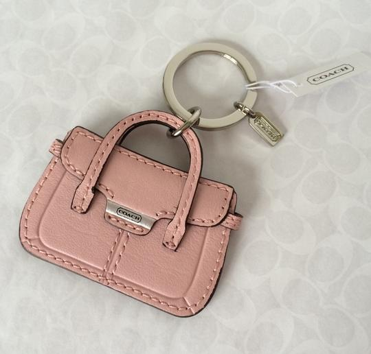 Coach COACH Pink Leather Taylor Hand Bag Purse Key Fob Chain Ring