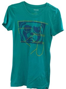 Hurley T Shirt Blue green