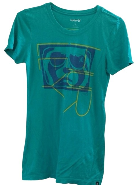 Preload https://item3.tradesy.com/images/hurley-blue-green-tee-shirt-size-4-s-4236637-0-0.jpg?width=400&height=650