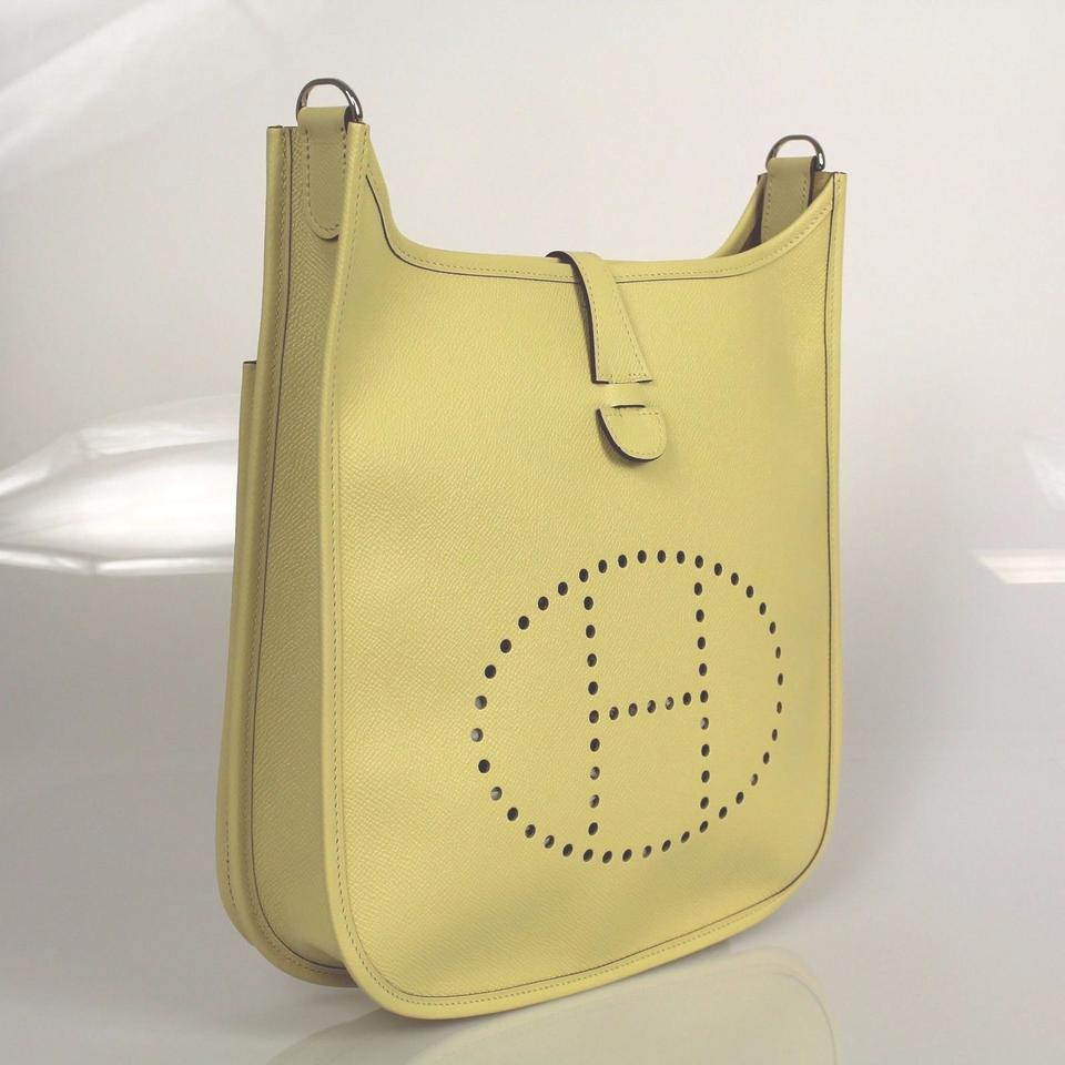 pink hermes kelly bag - Herm��s Pastel Tuarillon Leather Evelyne Iii Pm Yellow Cross Body ...