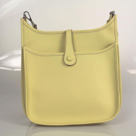 Hermès Pastel Taurillon Clemence Leather Evelyne Pm Cross Body Bag