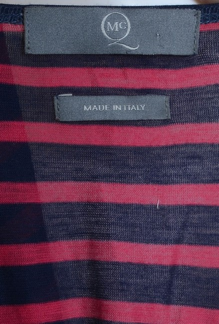 MCQ by Alexander McQueen short dress Red & Navy Striped Draped on Tradesy