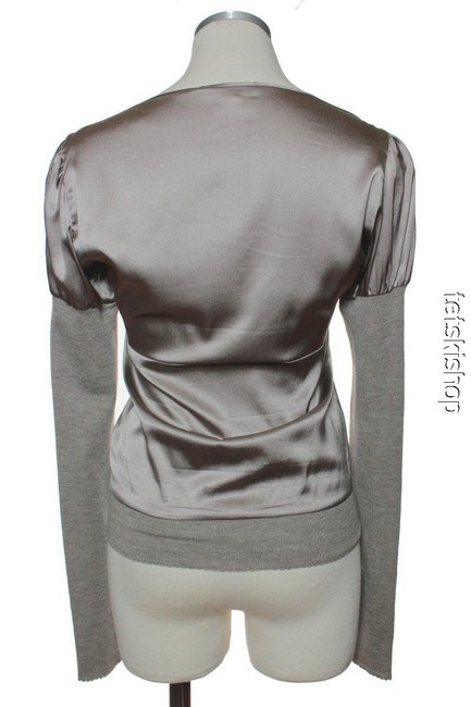 Vanessa Bruno Silk Long Sleeve Sweatshirt