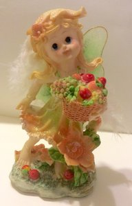 Fairy Fruit Basket Figurine Wedding Decorations Centerpiece