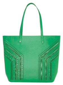 Stella & Dot Fillmore Green Vegan Leather Tote in Kelly Green