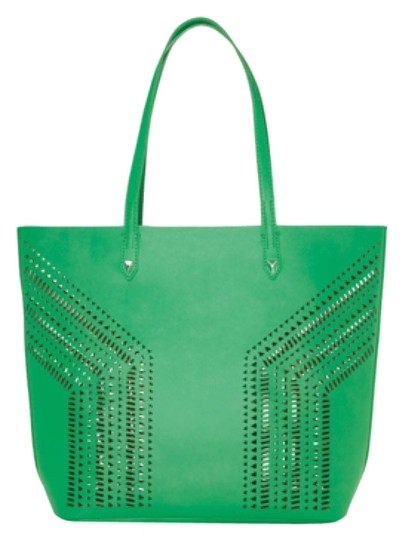 Stella & Dot Fillmore Vegan Leather Tote in Kelly Green