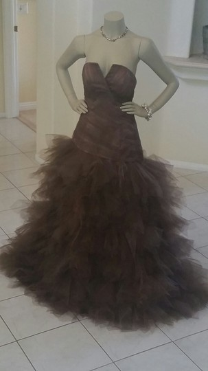 Preload https://item1.tradesy.com/images/mocha-brown-polyester-satin-with-tulle-custom-made-formal-bridesmaidmob-dress-size-8-m-4237915-0-0.jpg?width=440&height=440