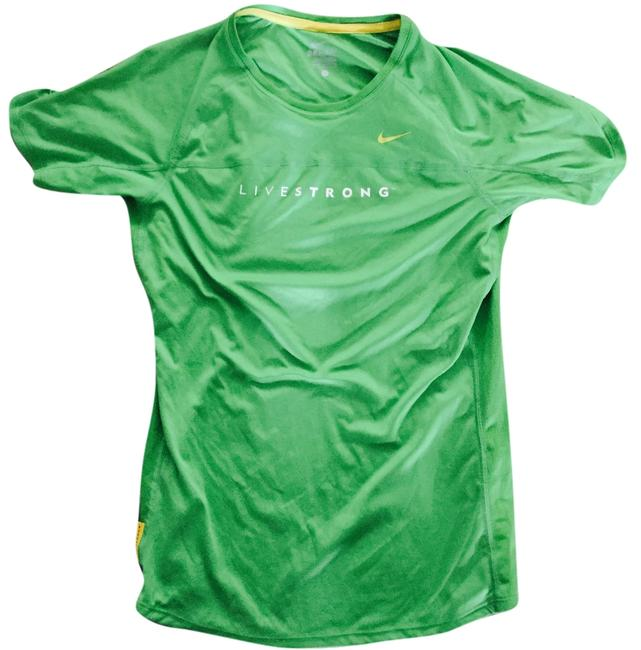 Preload https://item2.tradesy.com/images/nike-green-livestrong-t-shirt-dri-fit-activewear-top-size-8-m-29-30-4237966-0-0.jpg?width=400&height=650