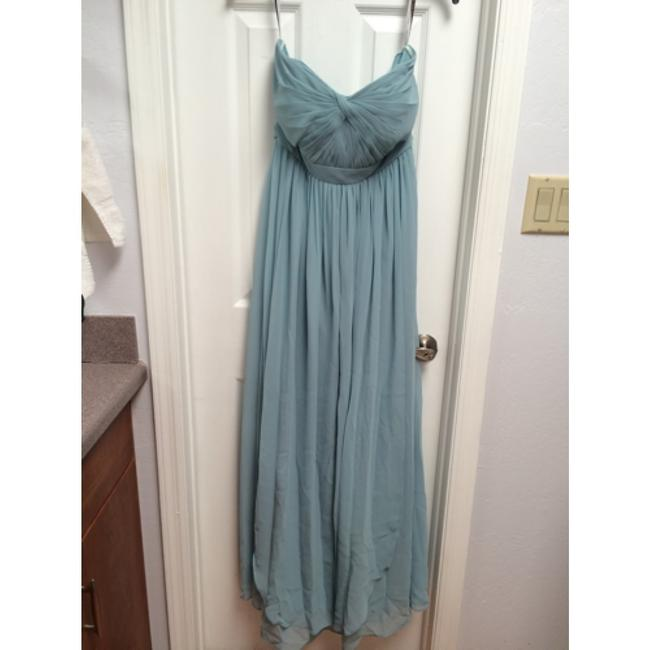 Item - Blue Luxe Chiffon Aidan Ciel Modern Bridesmaid/Mob Dress Size 6 (S)