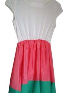 short dress White/Pink/Green on Tradesy