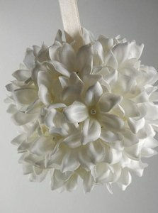 Ivory Stephanotis Bridal Pomander Ceremony Decoration