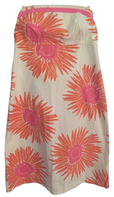 Tommy Hilfiger short dress White with bright pink and orange on Tradesy